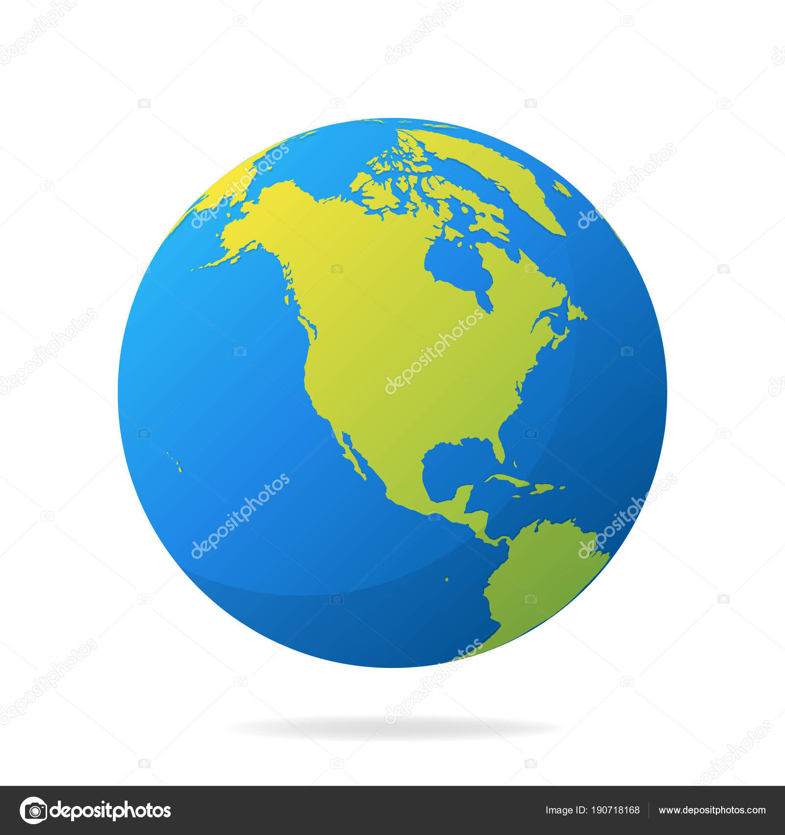 earth globe green continents modern world map concept world map