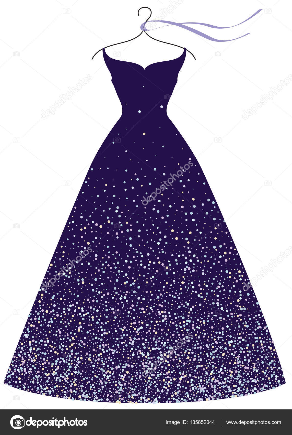 Evening Party Dress Fashion Illustration Vector Image By C Maddyz Vector Stock 135852044