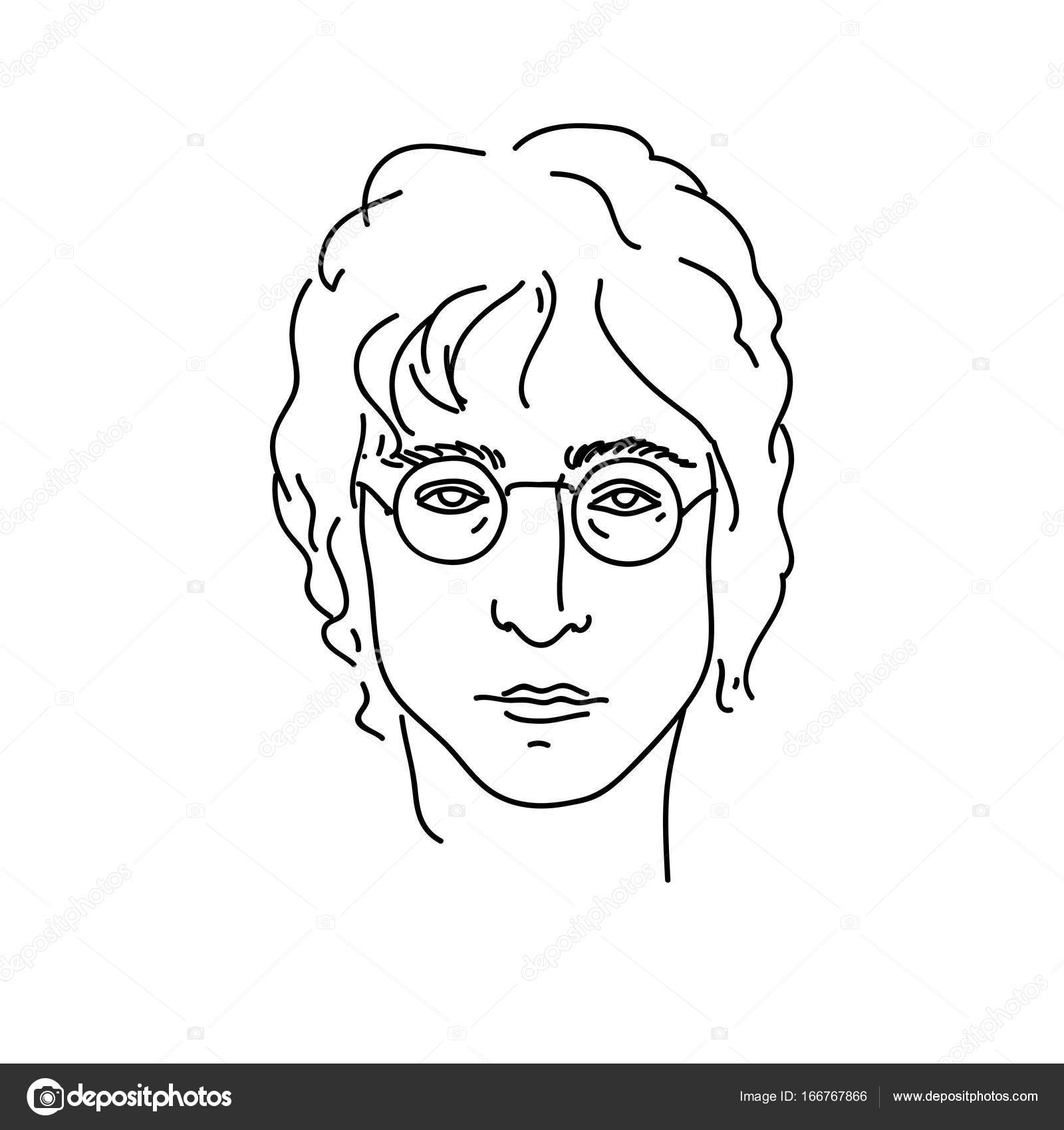 September 19 2017 Creative Portrait Of John Lennon Musician From Beatles Line Art Vector Illustration Stock Vector C Maddyz 166767866