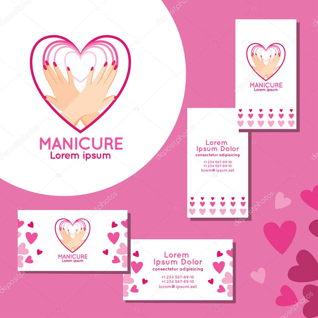 Manicure logo set of business cards for manicure stock vector set of business cards for manicure stock vector 128984362 magicingreecefo Image collections