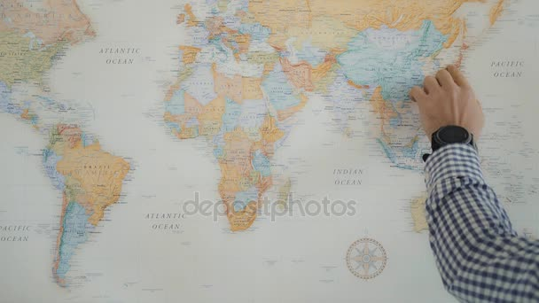Home travel planning on world map