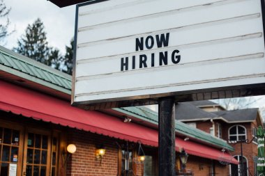 Now hiring typical sign