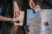plánování cesty s mapou