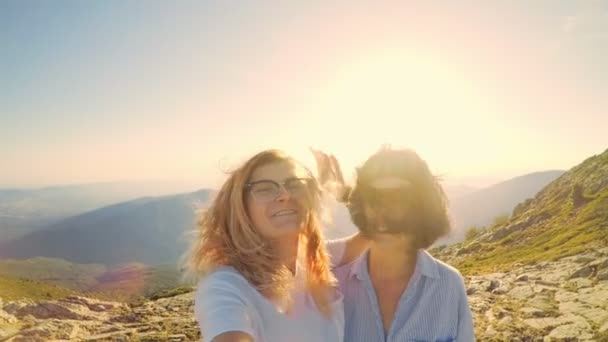 Two cute female friends make selfie