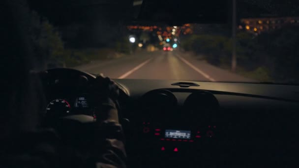 Night driving in resort town and suburbs