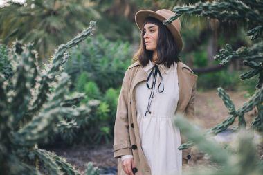 amish girl walks