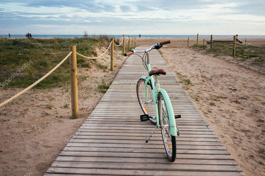 Lonely beautiful mint bike