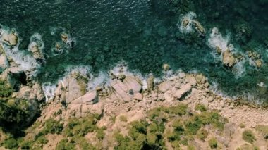 Aerial view of water reef for travel inspiration