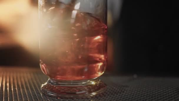 Bartender shows his art of mixind drinks