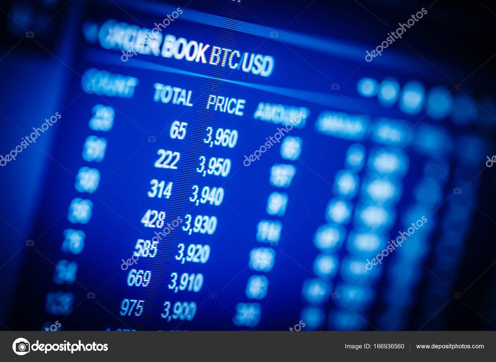 4a954b8281 Dati di exchange analisi mercato azionario: i grafici e le quotazioni sul  display. Analitica coppia Btc-Usd (Bitcoin / dollaro USA), il più popolare  bitcoin ...
