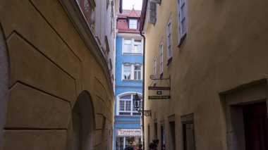 Typical houses of the city of Regensburg