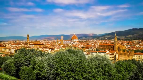 Timelapse of landscape of the city of Florence