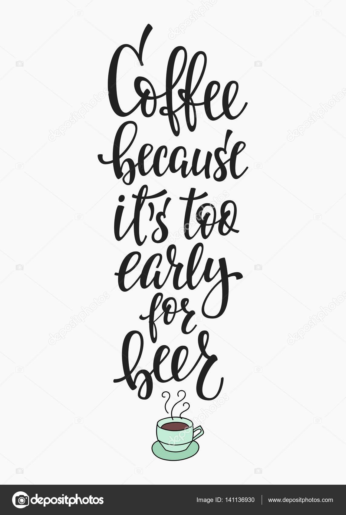 Cytat Miłość Kawy Typografii Grafika Wektorowa Lenaro