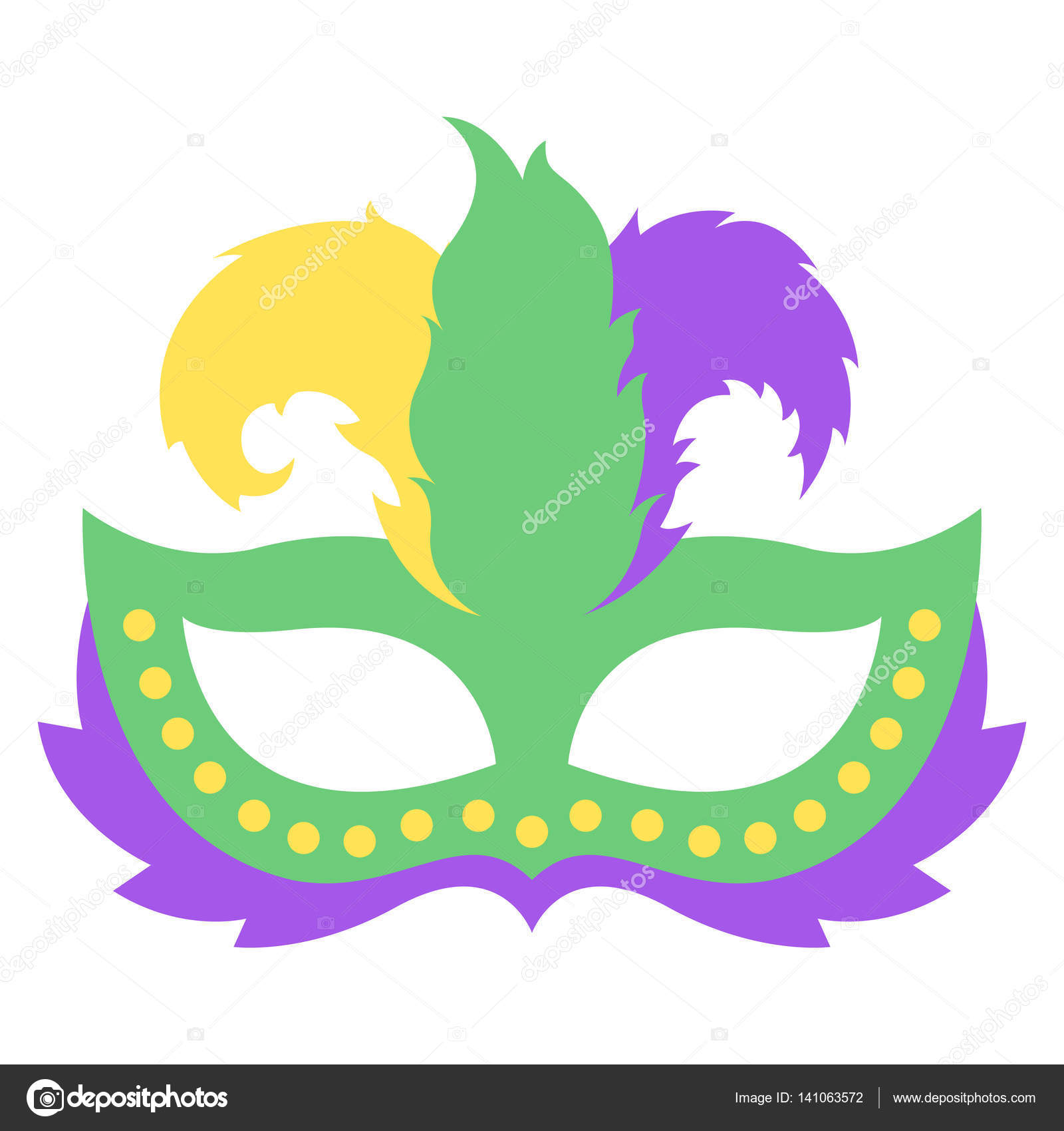 mardi gras mask with color feather icon colorful props for carnival rh depositphotos com mardi gras vector free mardi gras vector background