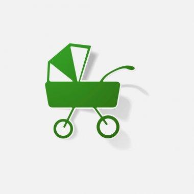 pram - baby carriage sticker