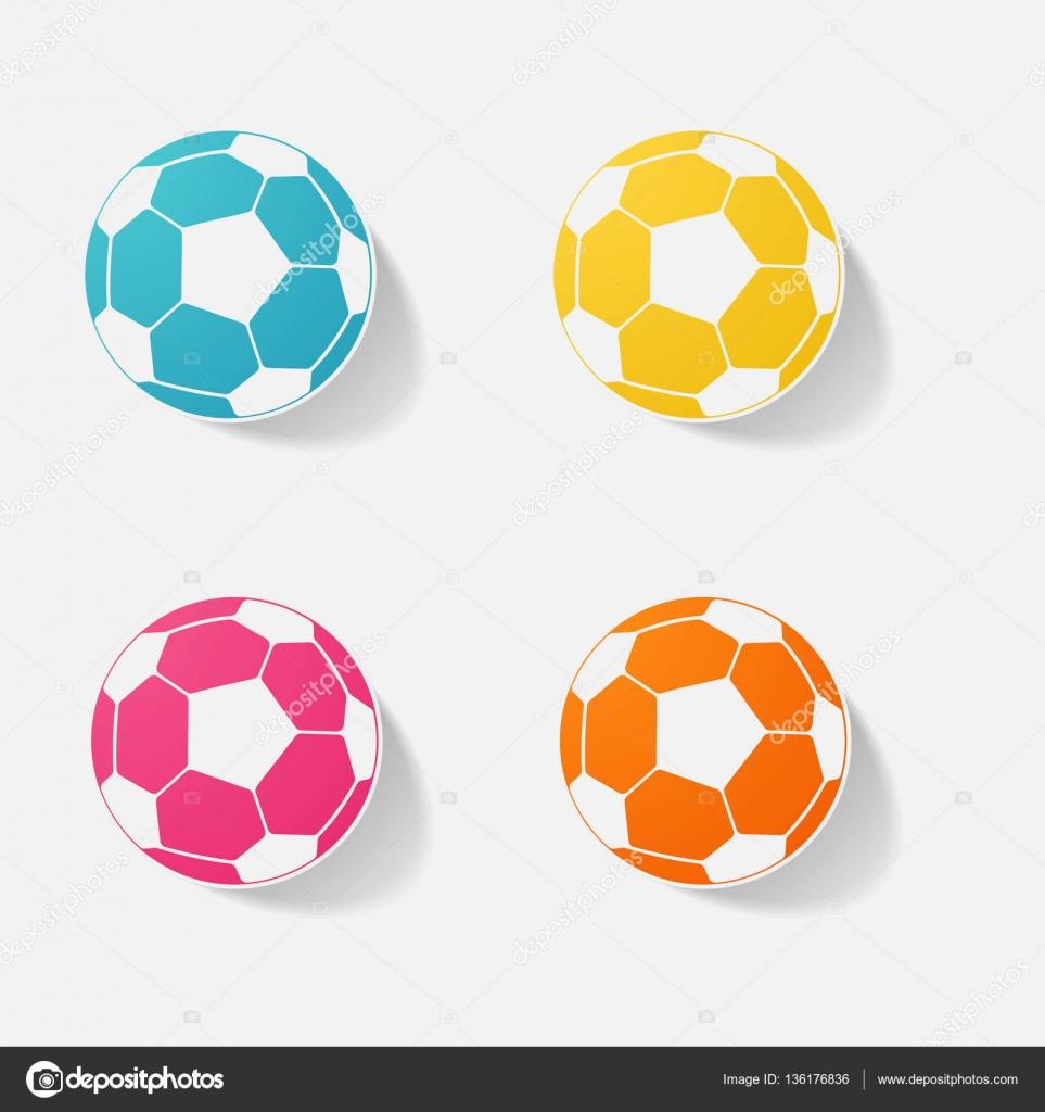 Bola De Futebol Do Adesivo Papel Produtos Elemento Realista