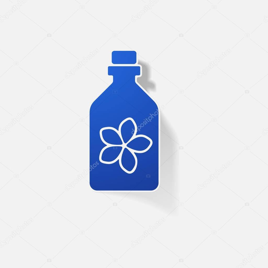 Sticker paper products realistic element design illustration Massage Oil