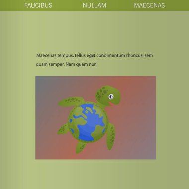 Brochure cover used in marketing and advertising the idea environmental protection