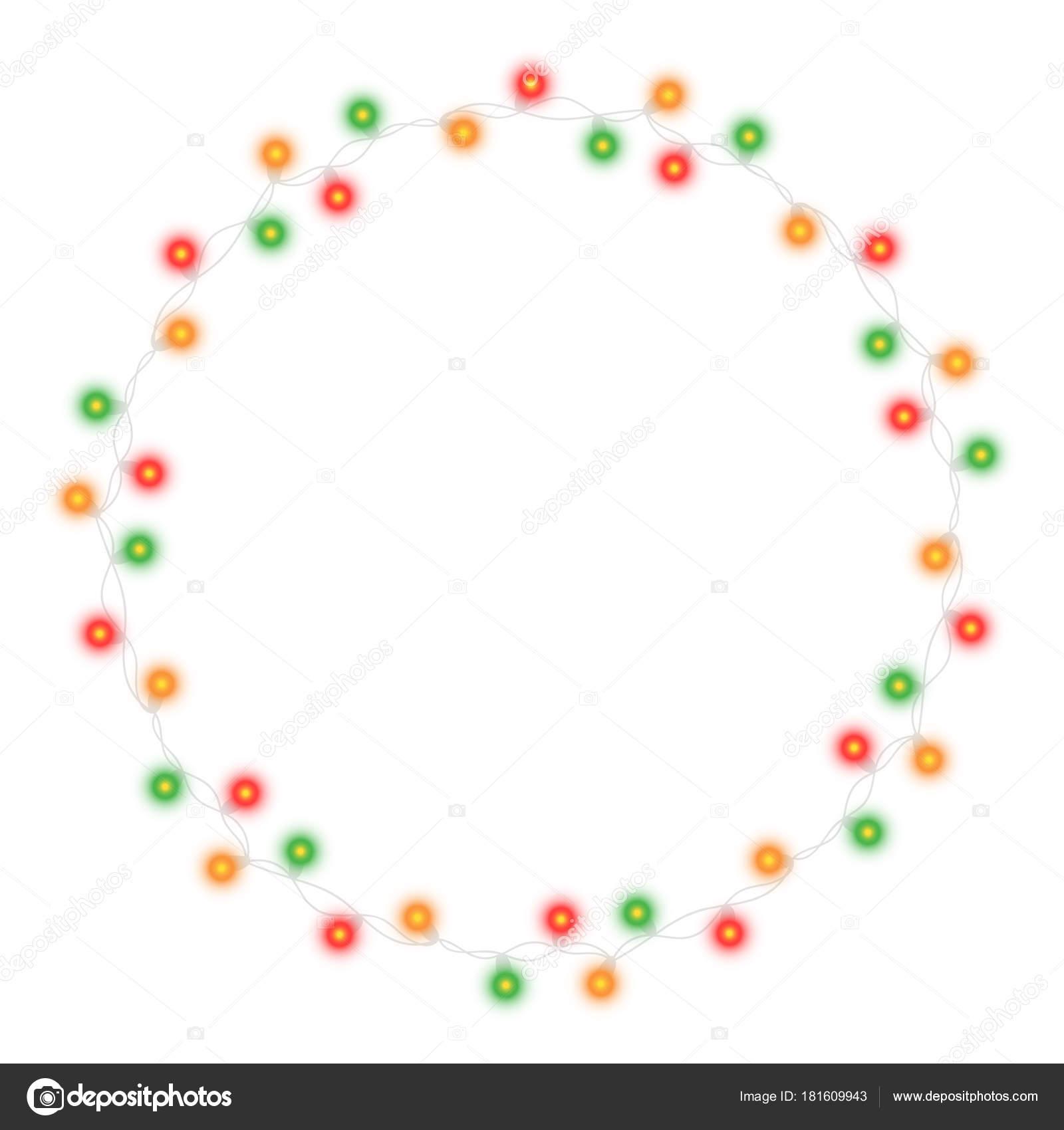 a4b4b34f34b Árbol de Navidad luz cadena garland marco y texto espacio aislado sobre  fondo oscuro. Ilustración vectorial realista decoración de fiesta de año  nuevo con ...