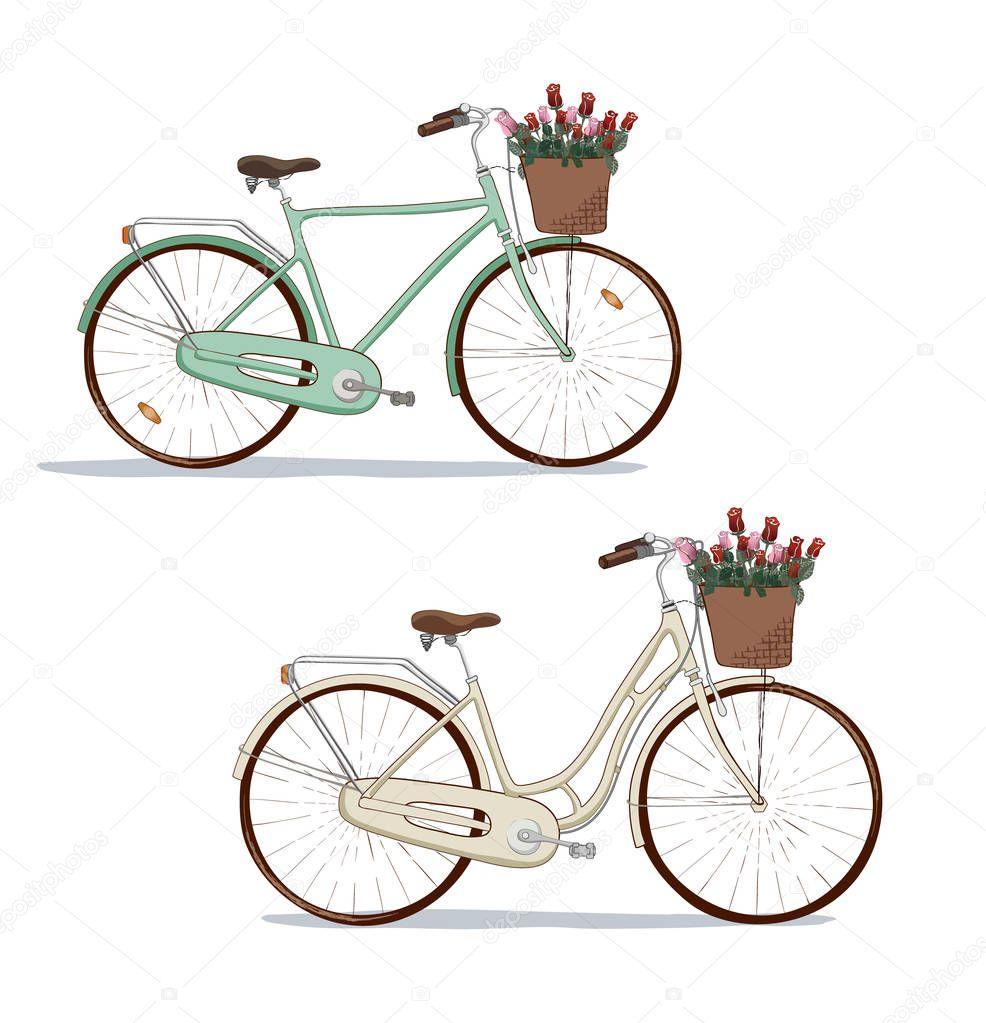 die handgezeichneten vektor wahrzeichen der stadt fahrrad. Black Bedroom Furniture Sets. Home Design Ideas
