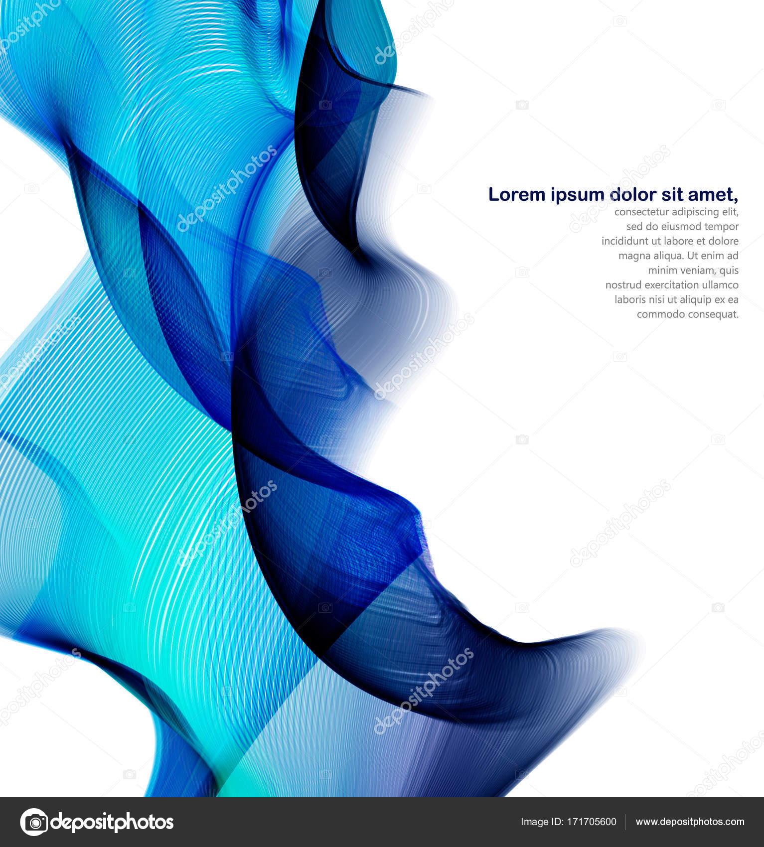 die abstrakte Welle. Zusammenfassung Hintergrund für Banner oder ...