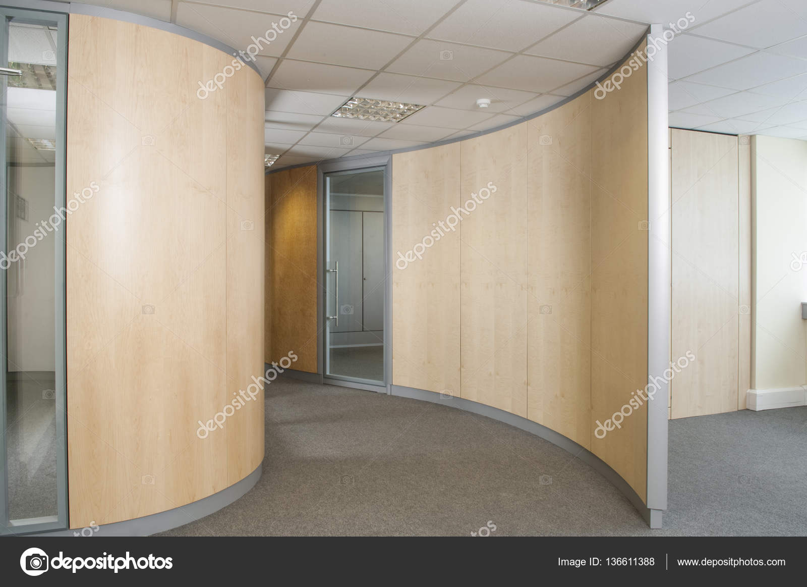 Wooden Partition In Office Stock Photo Stock At Photographyfirmco