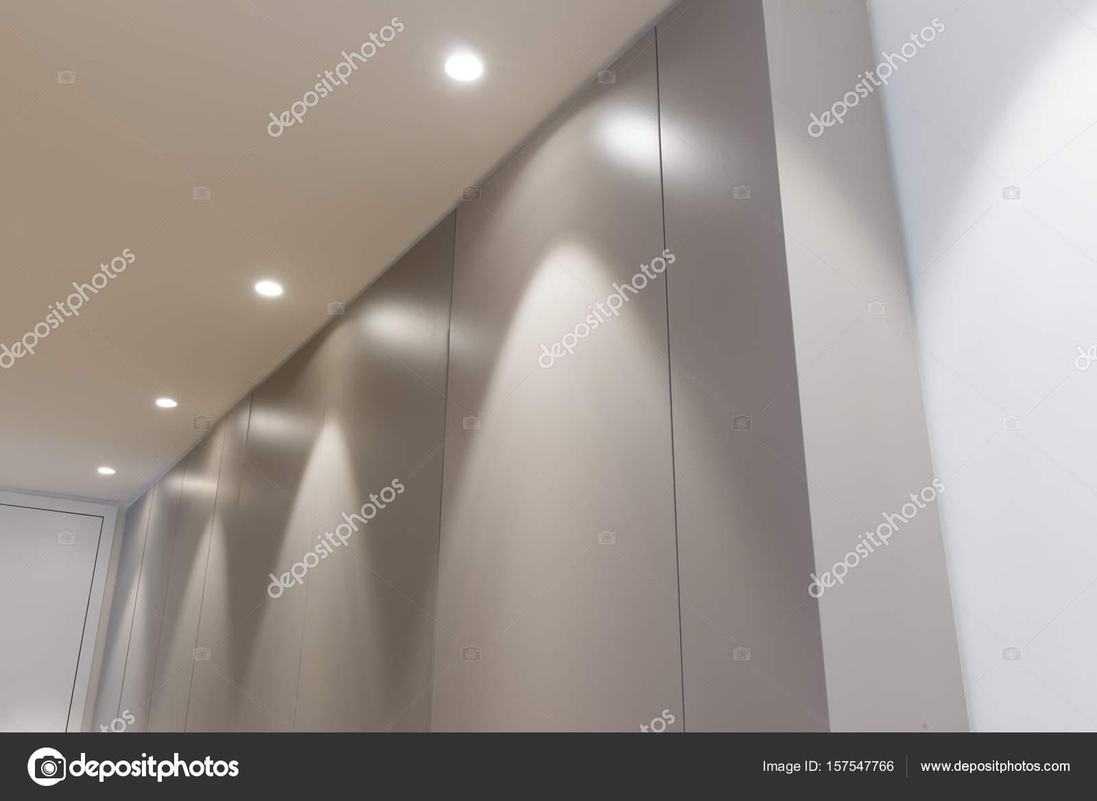 büro tür paneelwand mit beleuchtung — stockfoto © stock