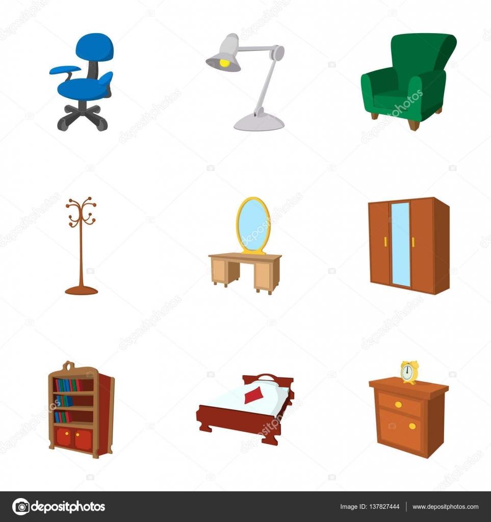 Muebles para el hogar set de iconos estilo de dibujos for Precios de muebles para el hogar