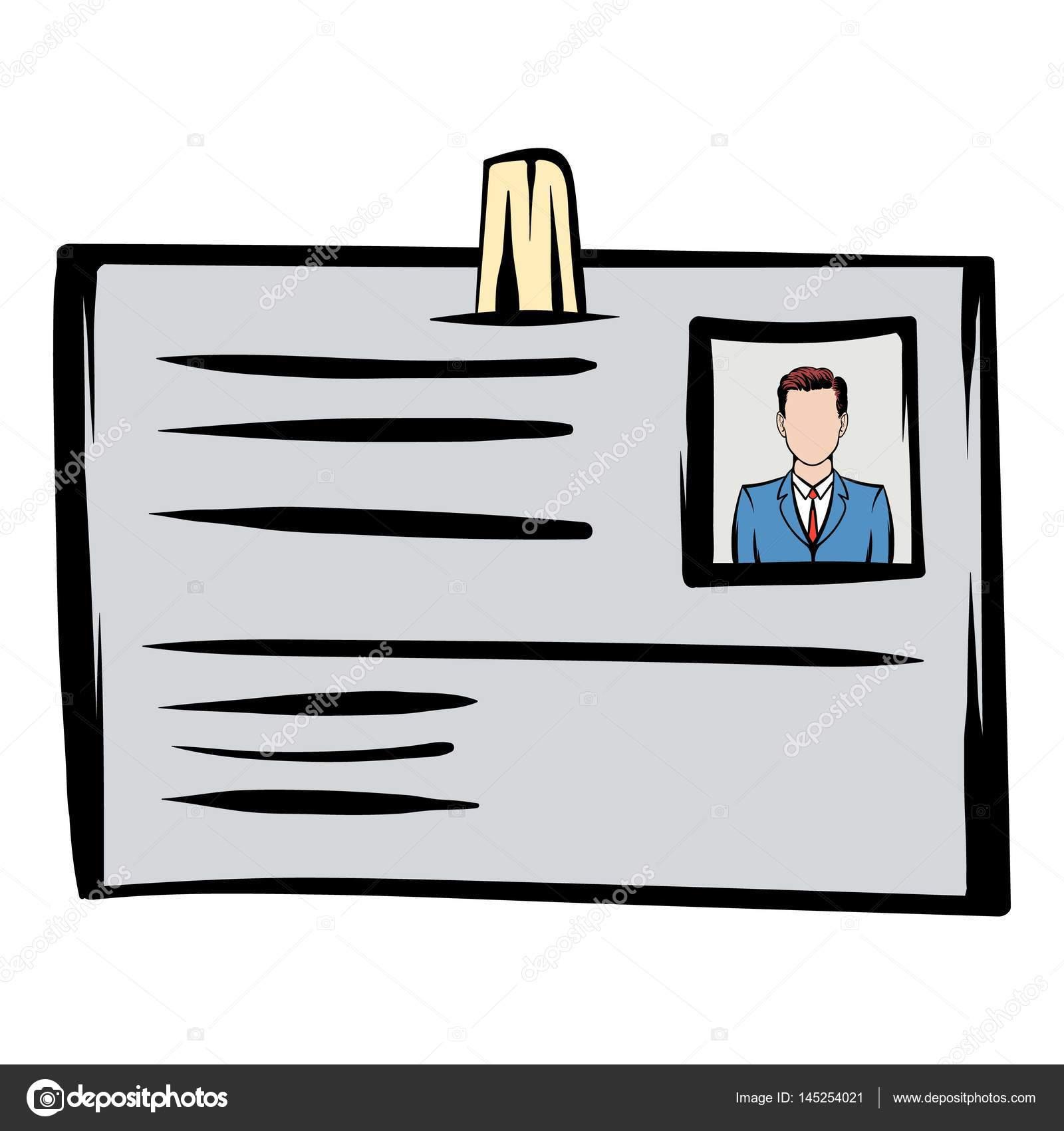 Dibujos animados icono de tarjeta de identificación — Vector de ...