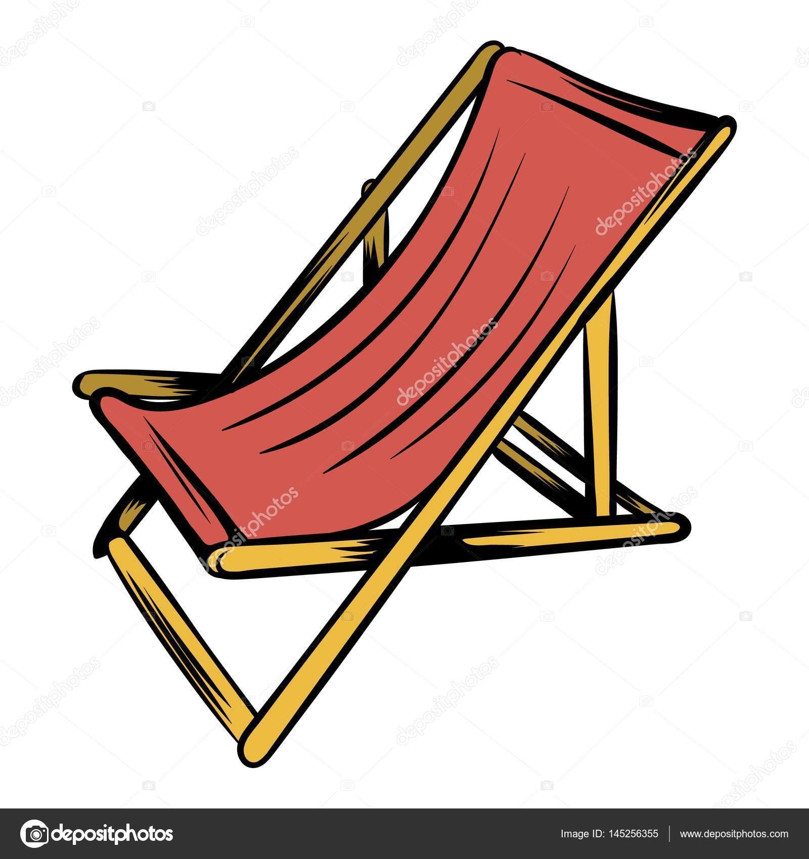 Wooden Beach Chaise Icon Cartoon Stock Vector C Juliarstudio