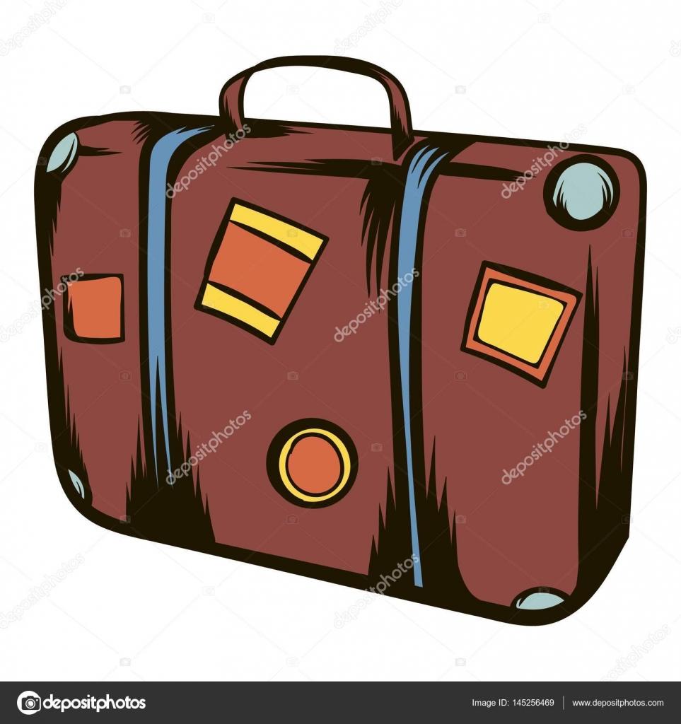 0226e9d3e Animado: dibujo maleta de viaje | Dibujos animados icono de maleta ...
