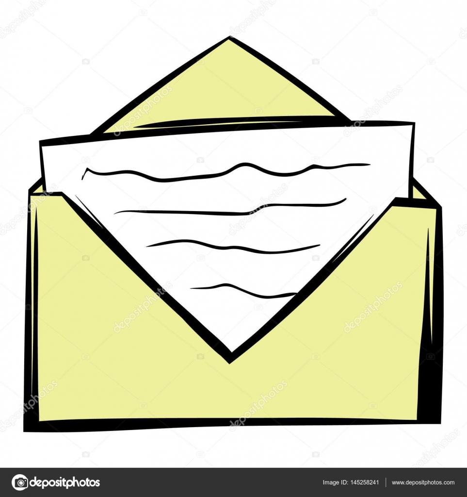Dessin D Enveloppe lettre en dessin animé icône d'enveloppe — image vectorielle