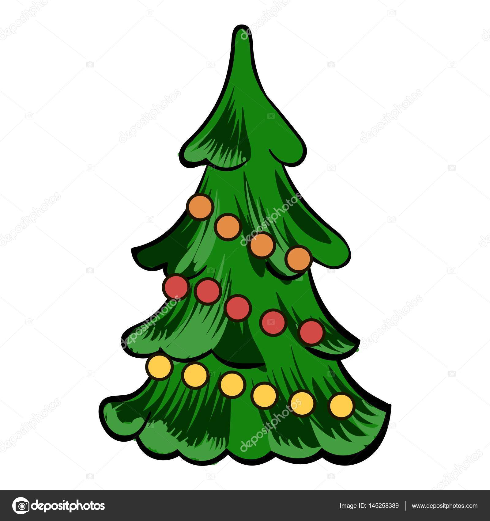 Dibujos árboles De Navidad Dibujos Animados Icono De árbol De
