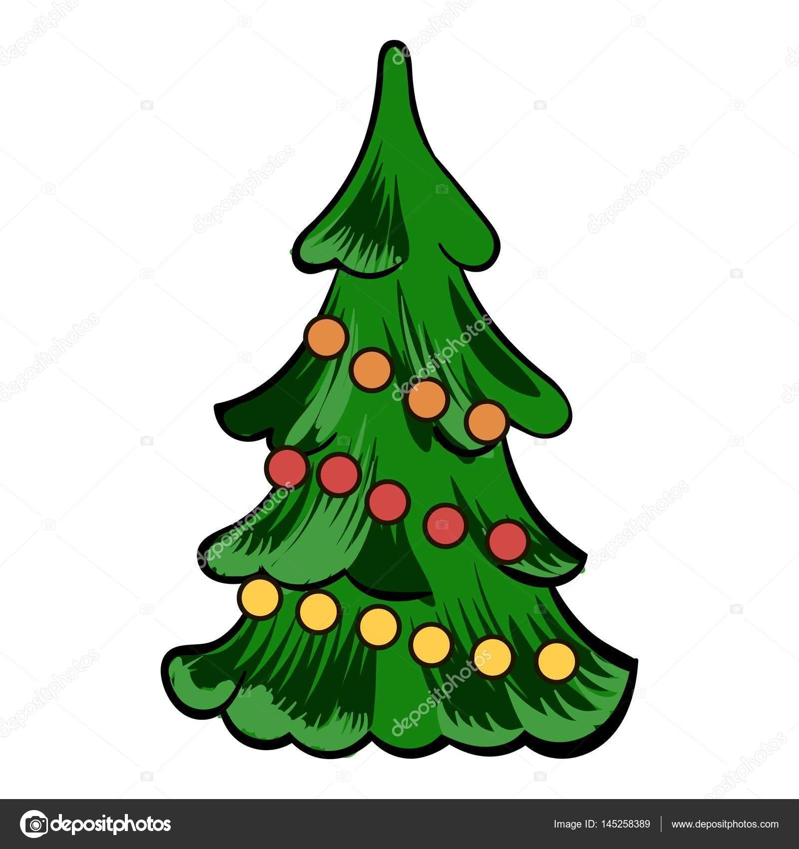 Imagenes Animadas Arboles Navidad.Dibujos Arboles De Navidad Dibujos Animados Icono De