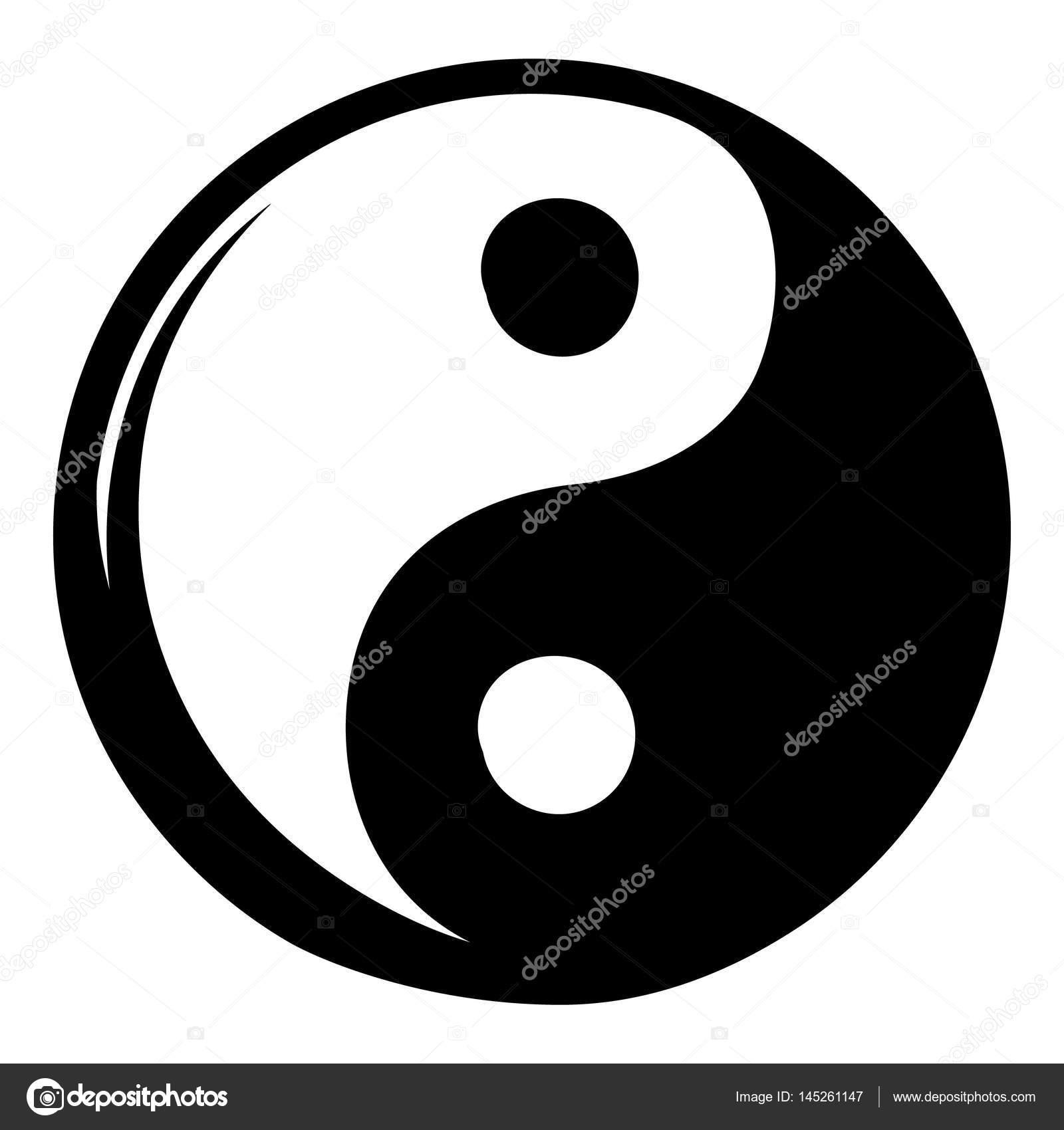 Yin Yang Icon Cartoon Stock Vector Juliarstudio 145261147