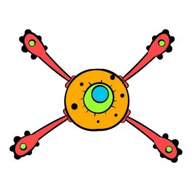 Virus icon, icon cartoon