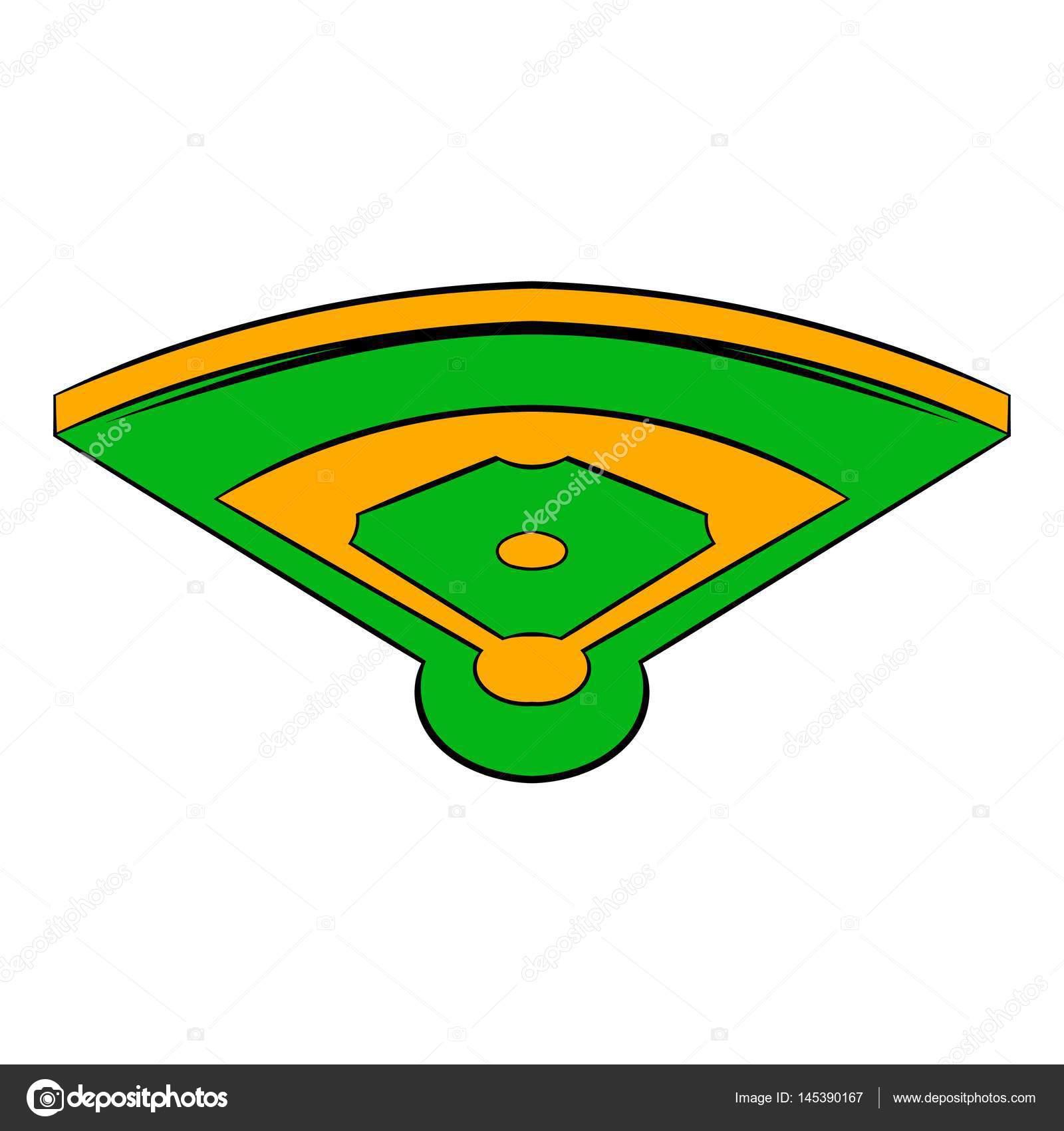 baseball field icon icon cartoon stock vector juliarstudio rh depositphotos com baseball field position vector baseball field vector art