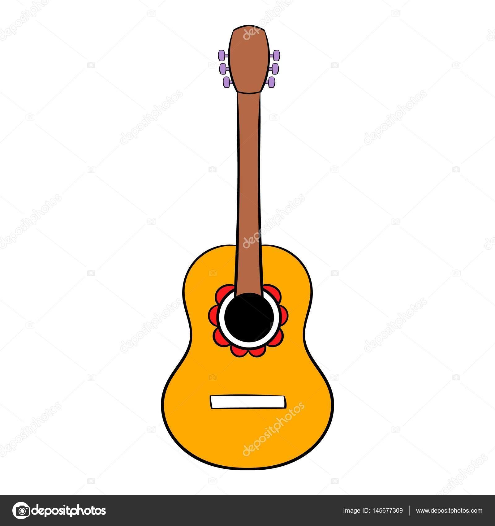 dibujos animados icono de guitarra ac u00fastica vector de stock  u00a9 juliarstudio 145677309 guitar vector photoshop guitar vector illustration