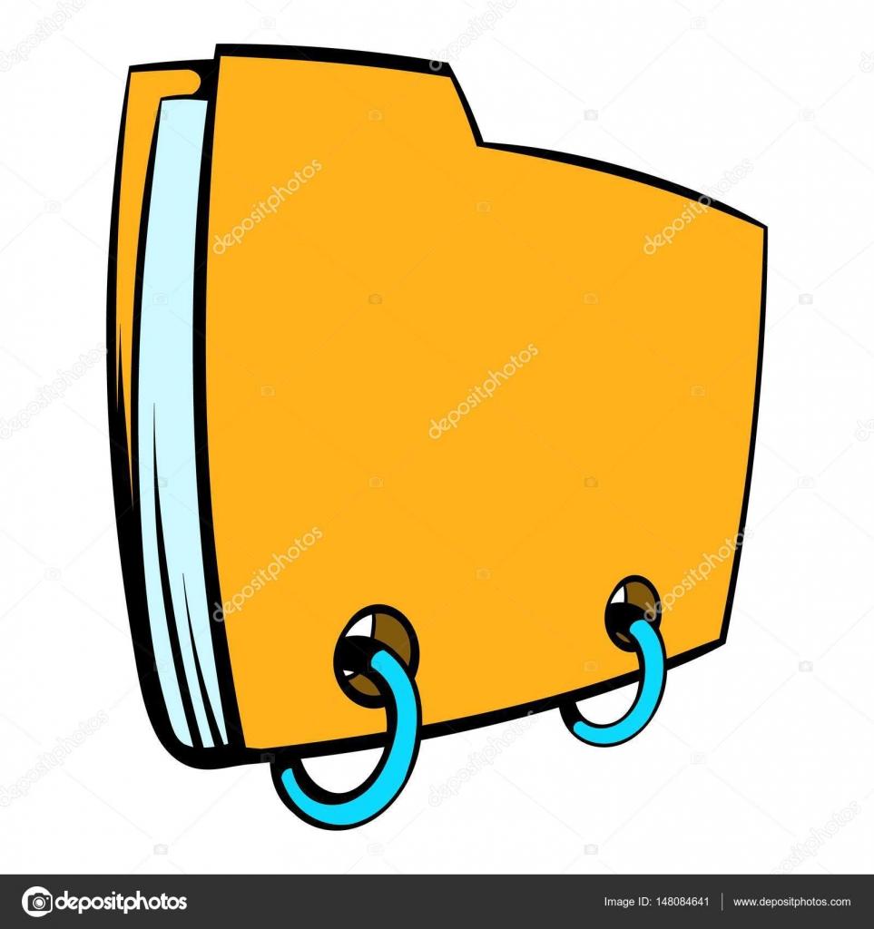 Cartone animato di icona cartella file giallo