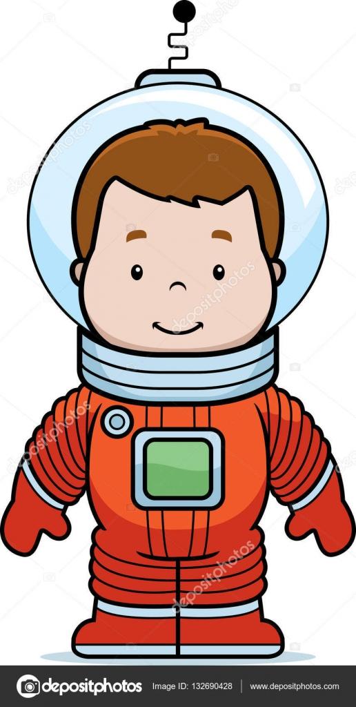 Dibujos animados astronauta niño — Vector de stock ...