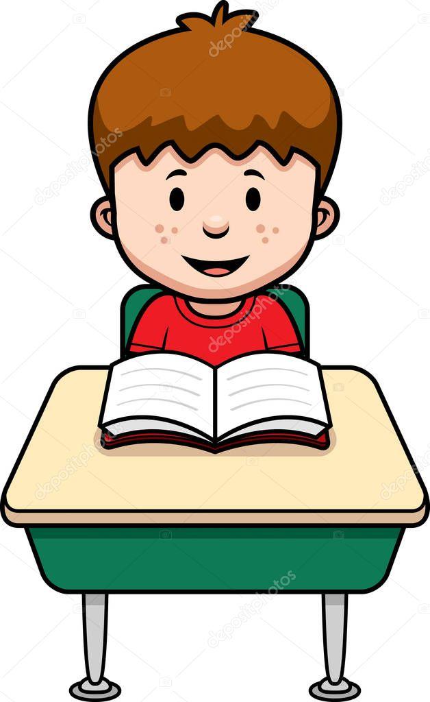 Cartoon Student Desk Stock Vector 169 Cthoman 133708068