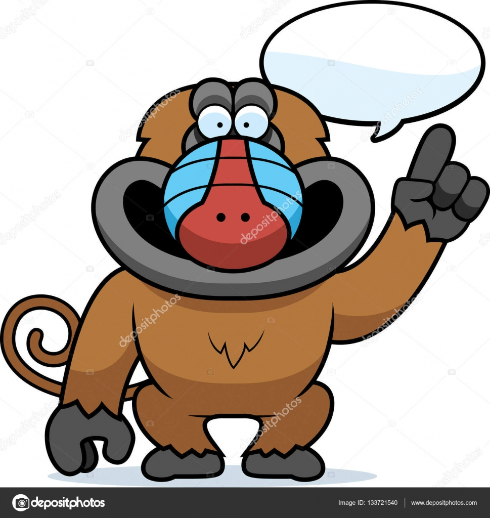 cartoon baboon talking stock vector cthoman 133721540 rh depositphotos com baboon clipart baboon clipart free