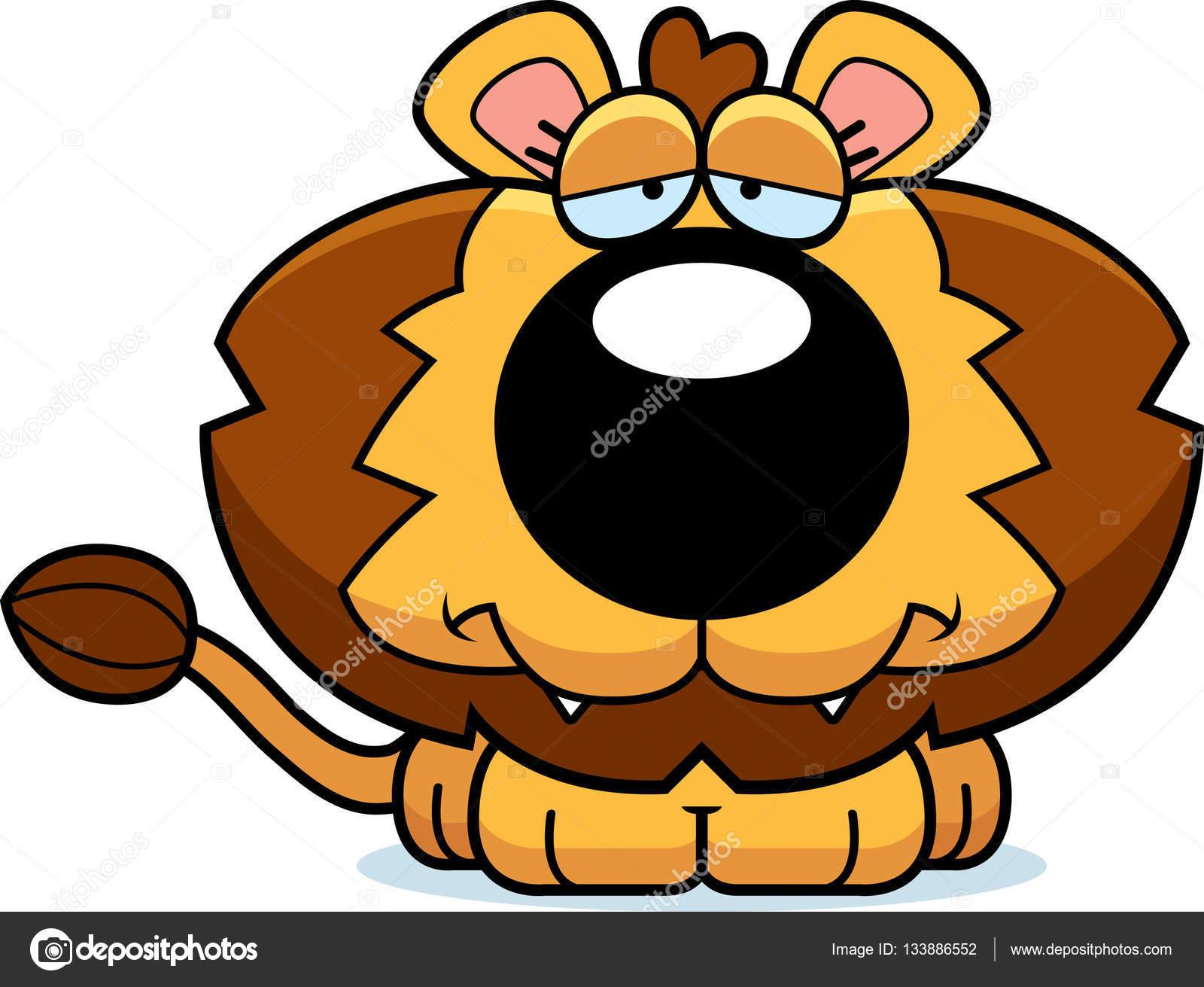 cartoon sad lion cub stock vector cthoman 133886552 rh depositphotos com lion cub clipart black and white cartoon lion cub clipart