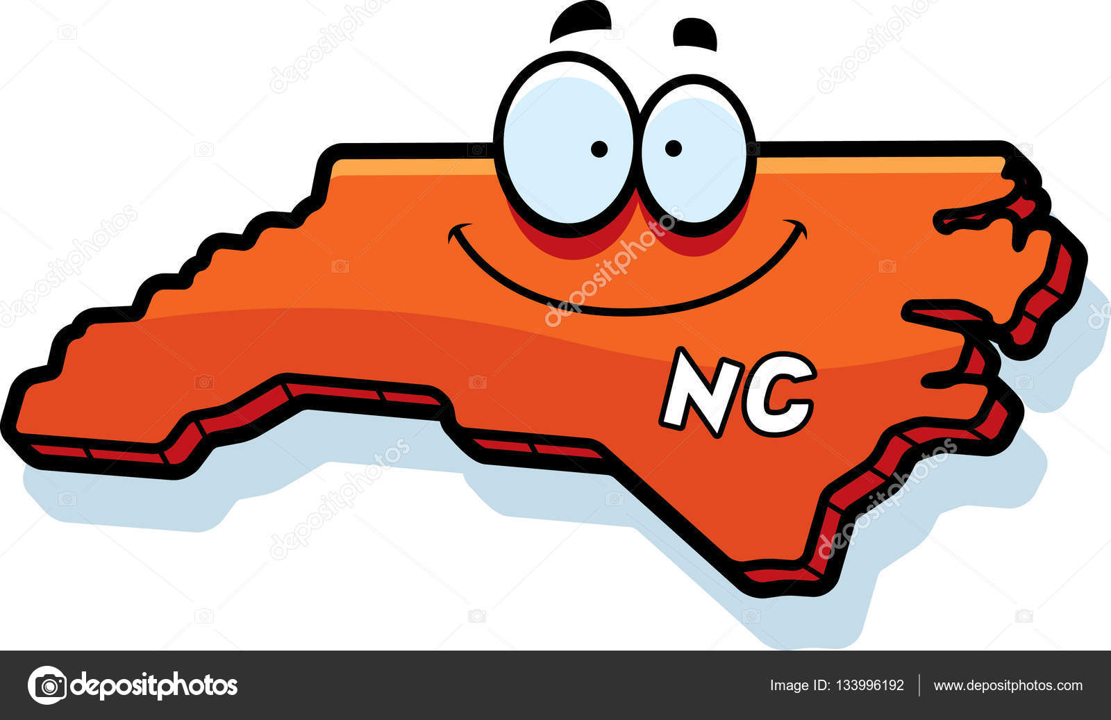 cartoon north carolina stock vector cthoman 133996192 rh depositphotos com north carolina clip art free north carolina flag clip art free