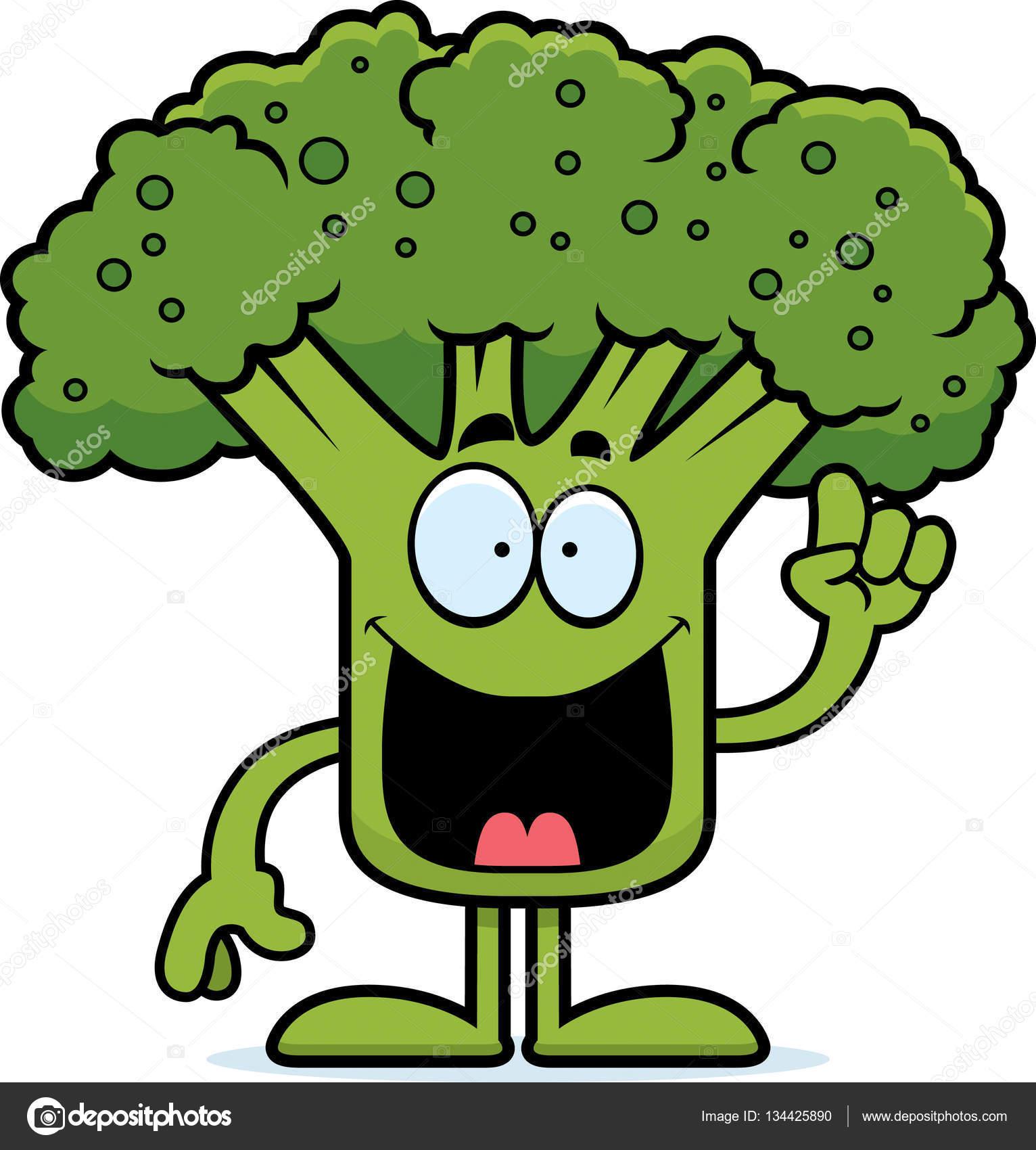 ideia de brócolis dos desenhos animados vetores de stock cthoman