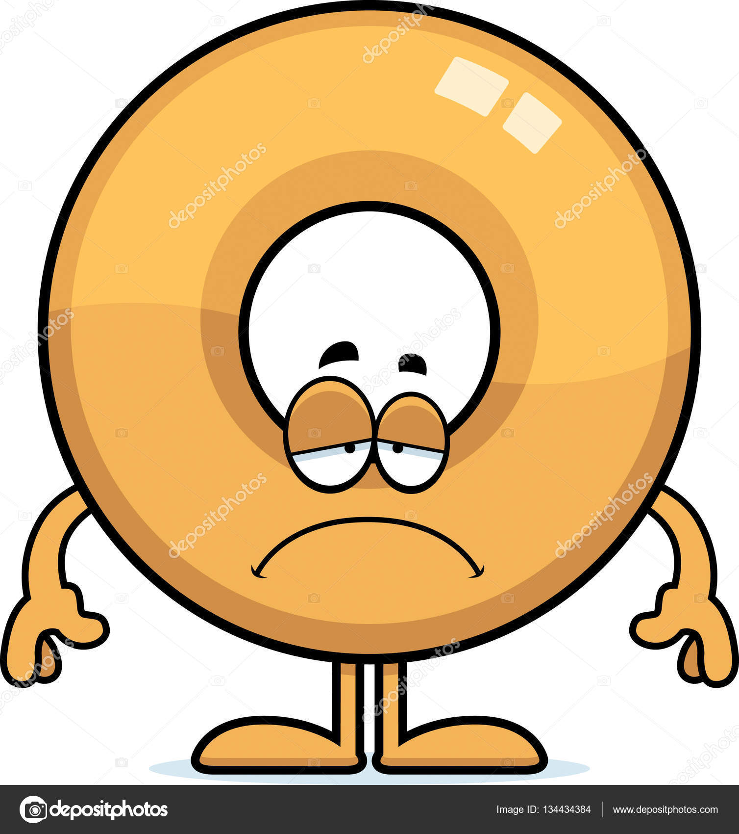 Sad Cartoon Doughnut Stock Vector C Cthoman 134434384