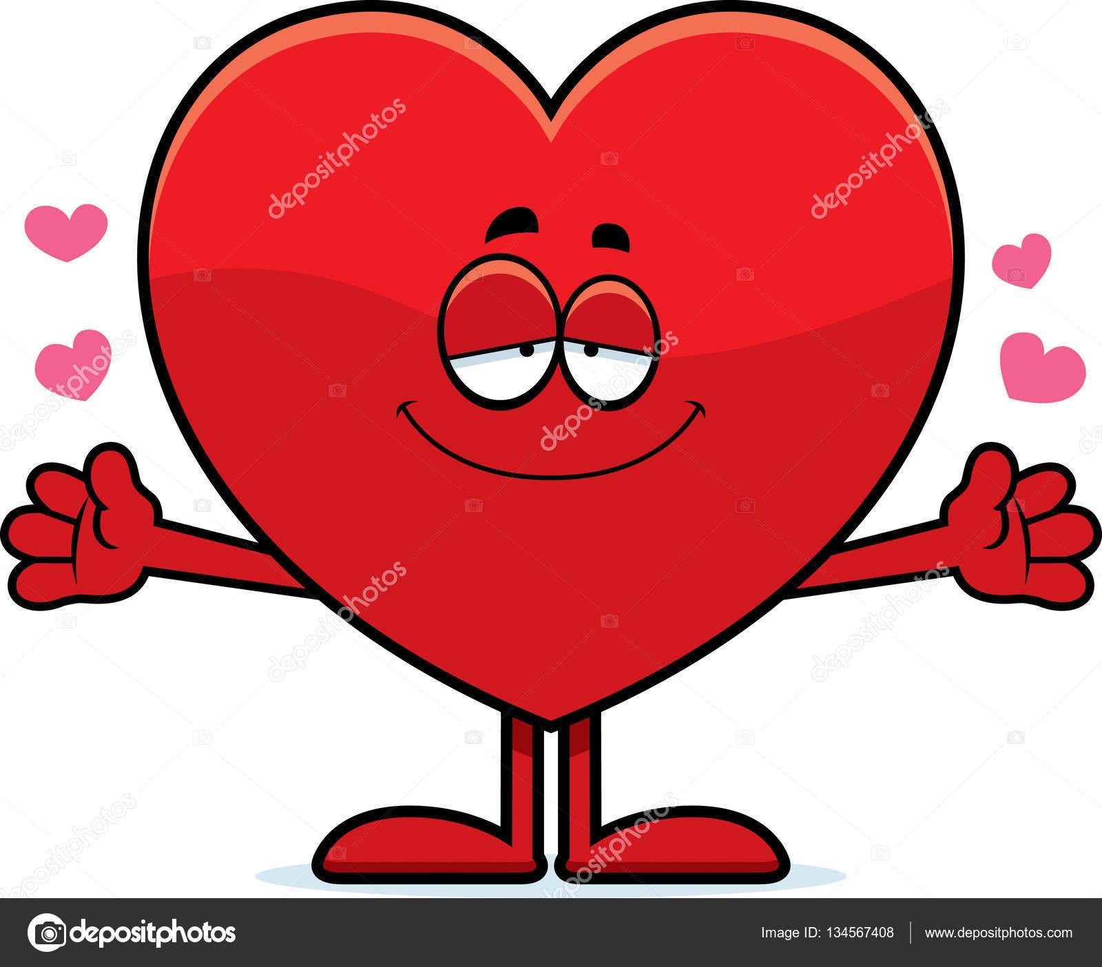 Coeur Dessin câlin cœur dessin animé — image vectorielle cthoman © #134567408
