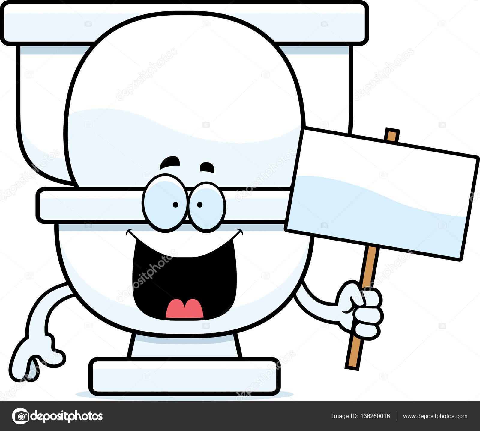 Dessin Wc dessin animé toilettes signe — image vectorielle cthoman © #136260016
