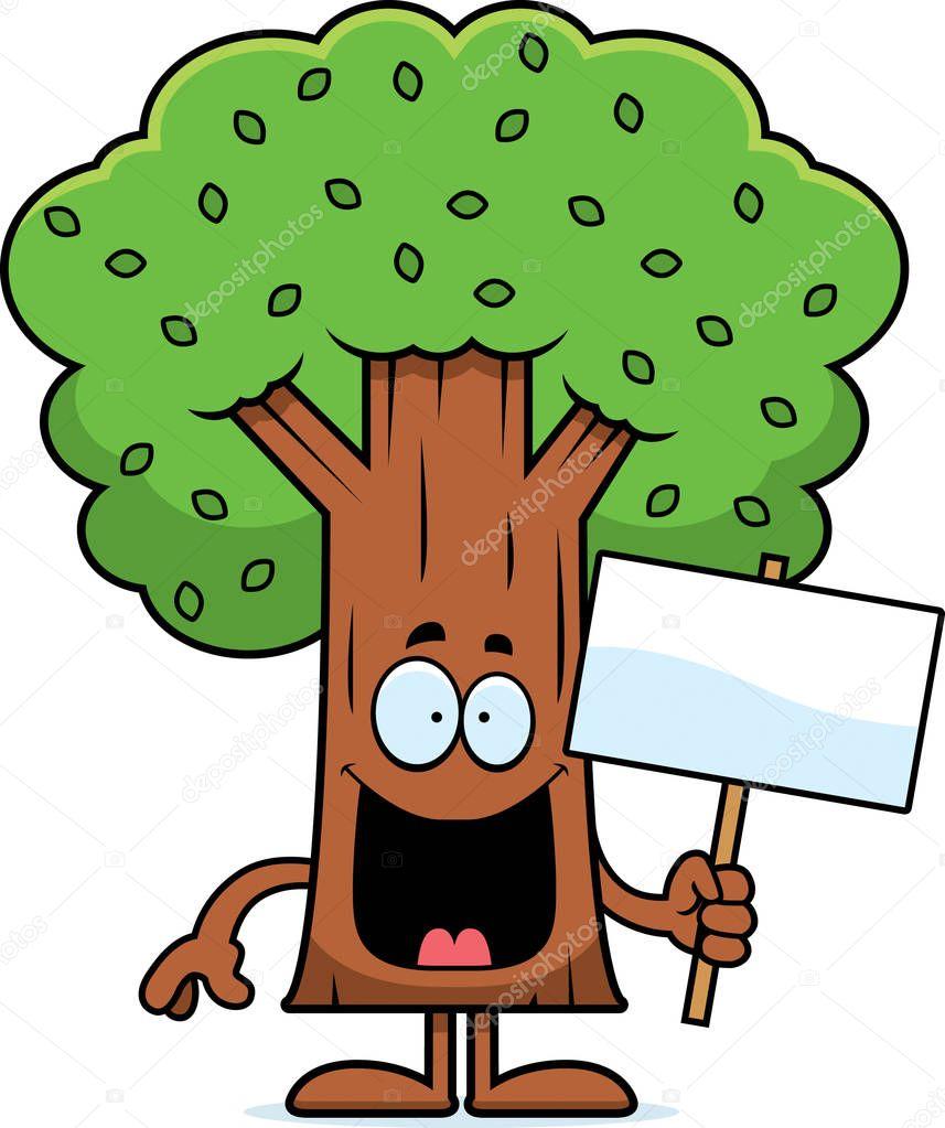 Смешное дерево рисунки, открытка