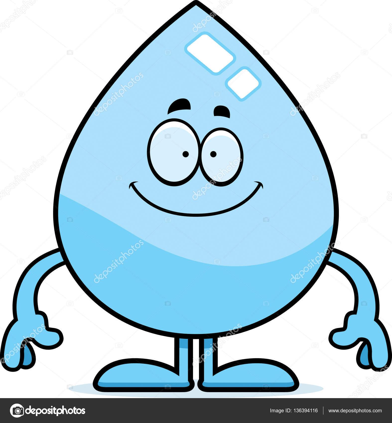 Gota de agua de dibujos animados feliz archivo im genes for Fondos animados de agua
